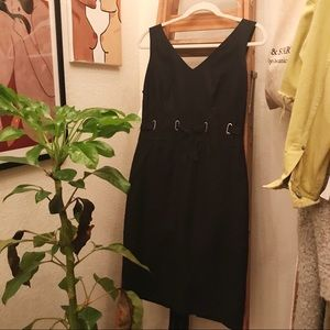 Vintage Pencil Tie Up Dress